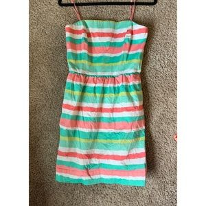 Vineyard Vines Striped Cape Coral Strapless Dress